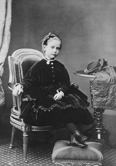 Princess Charlotte of Prussia, later Duchess of Saxe-Meiningen, as a child c.1868