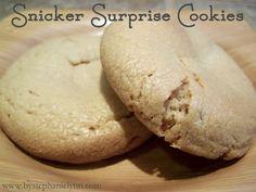 chocolates, surpris cooki, brown sugar, christmas holidays, cookie dough, candies, snicker surpris, peanut butter, pb cookies