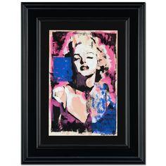 Marilyn Monroe ORIGINAL Mixed Media Painting Signed by Marta Wiley FRAMED COA #PopArt