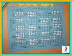 Painting ten frames!  FREEBIE!