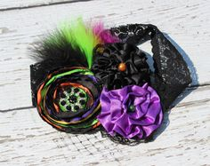 Sweet and Spooky Halloween Couture Headband by LaBandeauxBowtique, $13.00