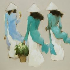 Nguyen Thanh Binh「Young girls in blue」