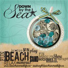Summer vacation in a locket! www.itsacharmedlife.ca/shop #beach #isitsummeryet #schoolsout #vacation