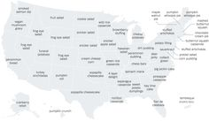 The most commonly Googled Thanksgiving recipes in every state. (2014)