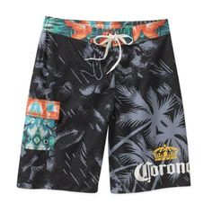 adf61f09b3 Corona Men's Palm Vintage Fixed Waist Short. Vintage Swim, Swim Shorts,  Swim Trunks