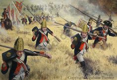 'New York 1776'. It shows the Hessian Fuselier Regiment Von Lossberg fording the Bronx river at the battle of White Plains, October 28th 1776, during the American War of Independence.