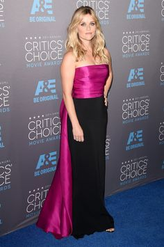 Reese Witherspoon: Reese embraced her inner Elle Woods in a chic pink and black Lanvin dress.