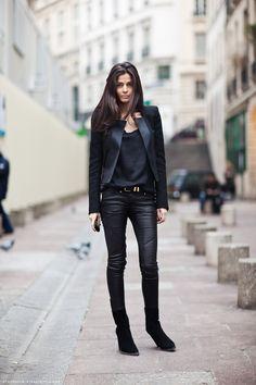 a4c6c97afe1 La Modella Mafia Barbra Martelo Model Fashion Editor Street Style In All  Black Everything Balmain - Style