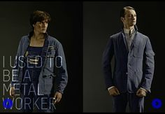 Upcycled workers' clothes into fashion by http://www.danielkroh.com/ ReClothings