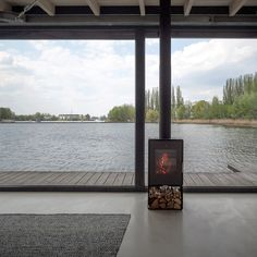 Stay in a Modern Houseboat in Berlin With Floor-to-Ceiling Windows - Dwell