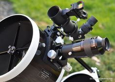 """Some very nice hardware attached to a 10"""" Skywatcher Dobsonian Telescope. #Astronomy #Telescopes #Dobsonian"""