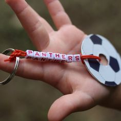 Make this fun soccer washer keychain for the team!