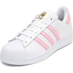 Womens adidas Superstar Athletic Shoe ($80) ❤ liked on Polyvore featuring shoes, athletic shoes, flexible shoes, leather upper shoes, traction shoes, laced up shoes and sport shoes