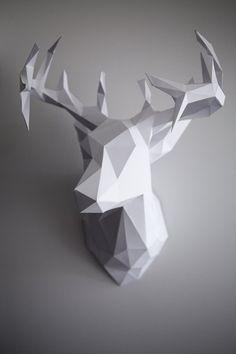 Deer Head Trophy  3D papercraft  par 3DpapercraftStudio sur Etsy