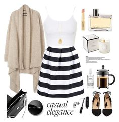 """Casual Elegance"" by rever-de-paris ❤ liked on Polyvore featuring Bobbi Brown Cosmetics, WithChic, Topshop, Kenzo, Napoleon Perdis and David Jones"