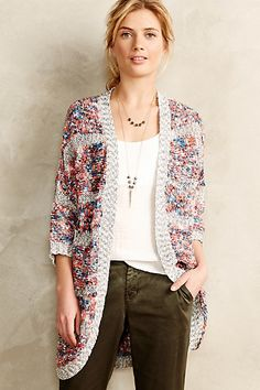 Banded Confetti Cardigan #anthropologie #anthrofave