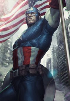 Capitan-america-illustration-artgerm-oldskull