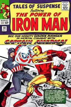 Tales of Suspense #58. Iron Man v Captain America.