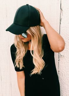 Our BEST Seller! Fall is easily the best season for fashion. It is also the season to get creative with your wardrobe. - Brooke Chic up your Friday Night Out look with this Black Leather Baseball Cap.