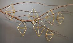These intricate geometric mobiles originated in Finland, but the trend for making them has now spread across the globe. Here, the illustrator and craft blogger Rachel Basinger teaches you how to make your own