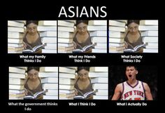 Asians: What My Family Thinks I DO And What I Actually Do