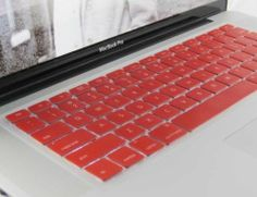 "Dual Tone keyboard protector skin for Macbook 13"" macbrook pro : red"