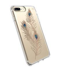 PRESIDIO CLEAR + PRINT IPHONE 7 PLUS CASE- SHOWY FEATHER GOLD/CLEAR