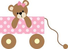 Bebê (Menino e Menina) 3 - pink wagon.png - Minus