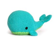 Free Crochet Amigurumi Whale Patterns : The whale is started using a magic ring and worked in joined
