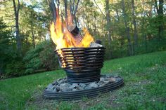 Eco Friendly Art Gallery Magazine: Eco Friendly Metal Art : Fire Bowls , Fireplaces and Pits Handcrafted in the USA