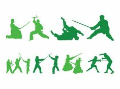 30+ Fighting People Silhouettes Vector Graphics #fighting #silhouettes #graphics