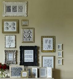 Eclectic mix of photo frames