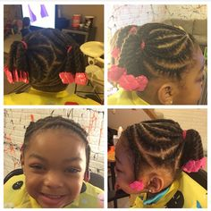 Braided twists using hot pink Sweet Pea GaBBY Bows!