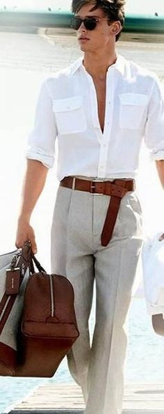 A white shirt is a wardrobe saver. When you are in doubt about what to wear, put on a classic white shirt. Depending on the setting for which you are dressing, you can dress it up by adding a tie and blazer or dress it down, by simply opening a button or two. White shirts go with almost anything from dress pants to jeans and from classic blazers to leather jackets.