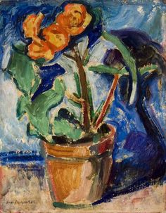 Alfred Henry Maurer, Pot of Flowers c. 1907