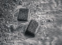 Boulders on Surf, Fécamp, France by Jesus Coll