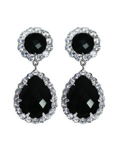 Anzie - Royale Earrings - Large Jolie - Black Onyx