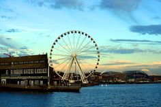 Seattle Great Wheel. Just opened today, apparently they serve food and booze you can take on the ride. So doing this many times.