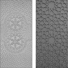 Two panels, one of naqsh the other based on an Islamic pattern Islamic Motifs, Islamic Patterns, Islamic Art, Geometric Pattern Design, Geometric Art, Morrocan Patterns, Arabian Pattern, Motif Oriental, Arabic Design