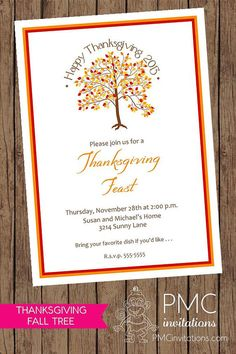 35 best thanksgiving invitations images on pinterest thanksgiving