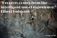 Progress comes from the intelligent use of experience.~ Elbert Hubbard