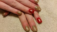 Gold Dust and Radiant Red - Amore Ultima Gel #nail #nails #nailart