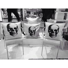 Skullmania! #pillow #design #interior #home #scandinavian #decor #skull #print #creative