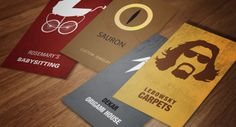 Business Cards Featuring Famous Pop Culture Characters - My Modern Metropolis