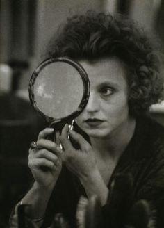 """alpinemastiff: """"Hanna Schygulla on the set of Berlin Alexanderplatz (Rainer Werner Fassbinder, 1980) """""""