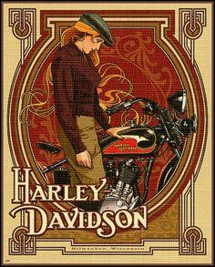 Harley Davidson vintage Poster                                                                                                                                                                                 More