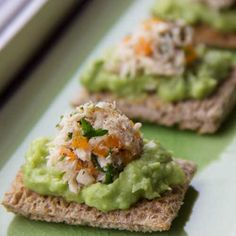 Avocado Tuna Toast - an all time favorite appetizer! Easy, delicious, dairy-free and gluten-free