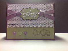 CraftD Bear: Baby Card