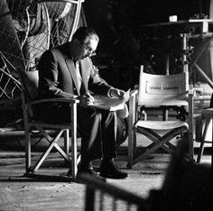 """Walt Disney on set. Probably during the production of """"The Jungle Book."""" About 1966."""