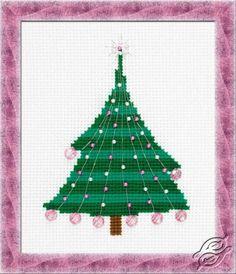 Christmas Tree With Crystal Balls - Cross Stitch Kits by RIOLIS - 1352